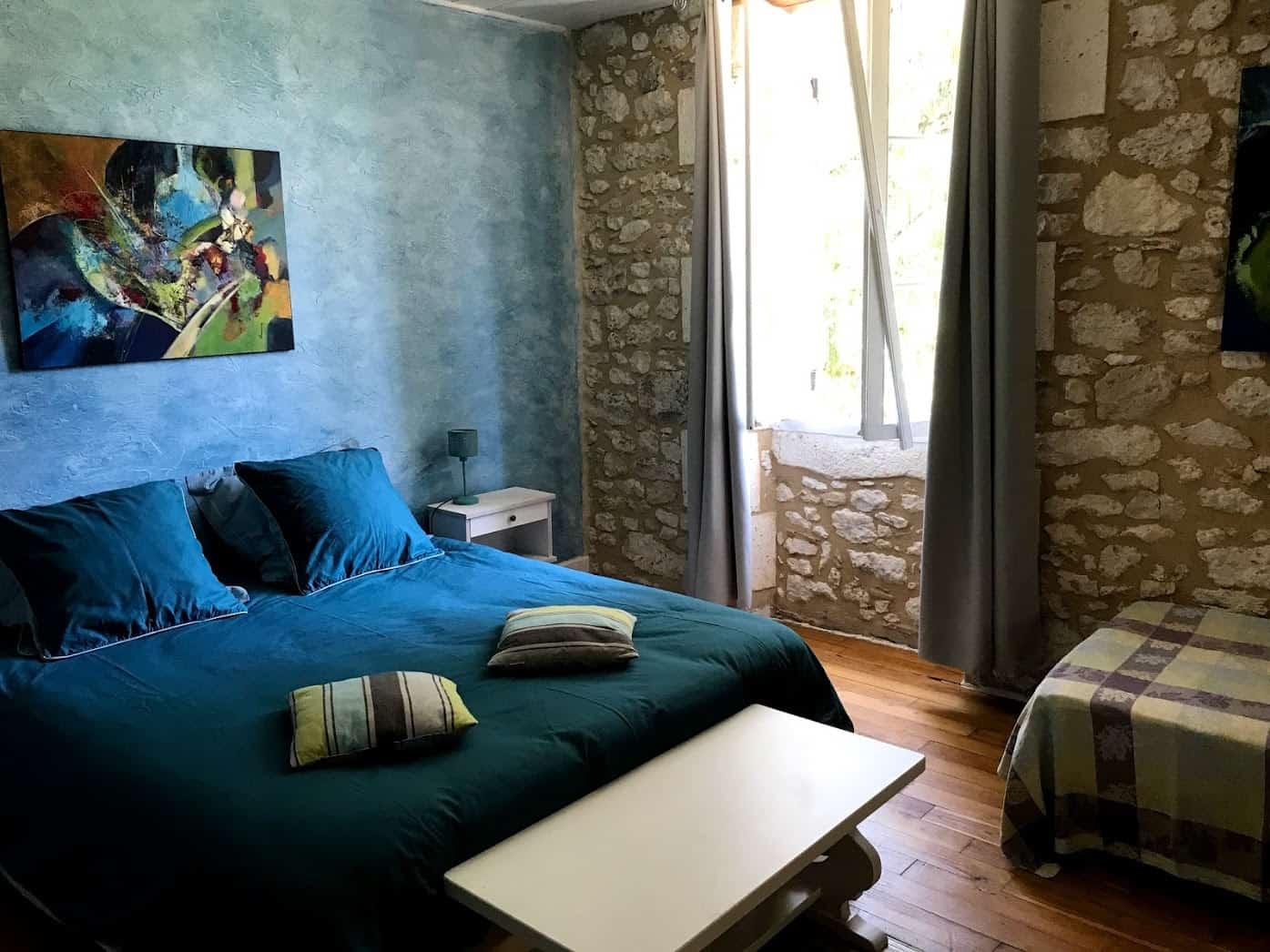 Métairie - Chambre bleue