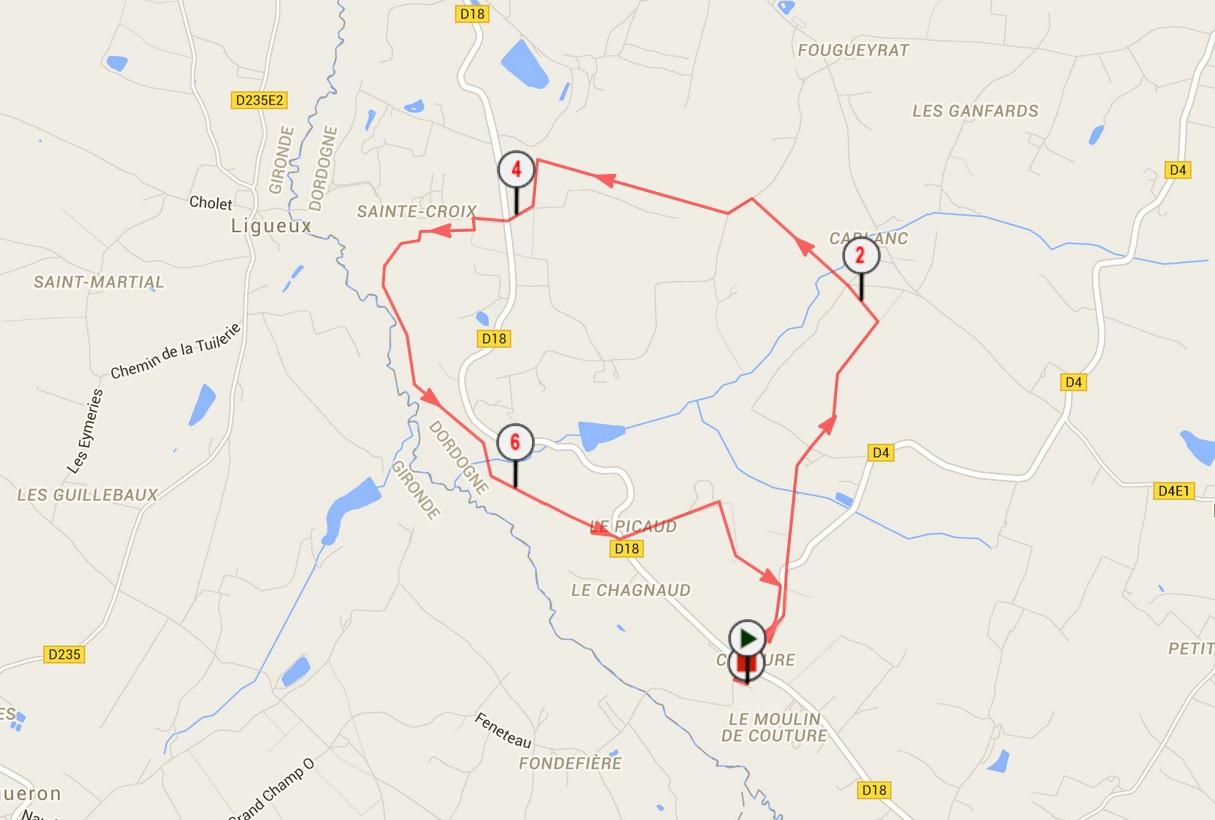 Circuit pédestre en Dordogne La boucle de Couture