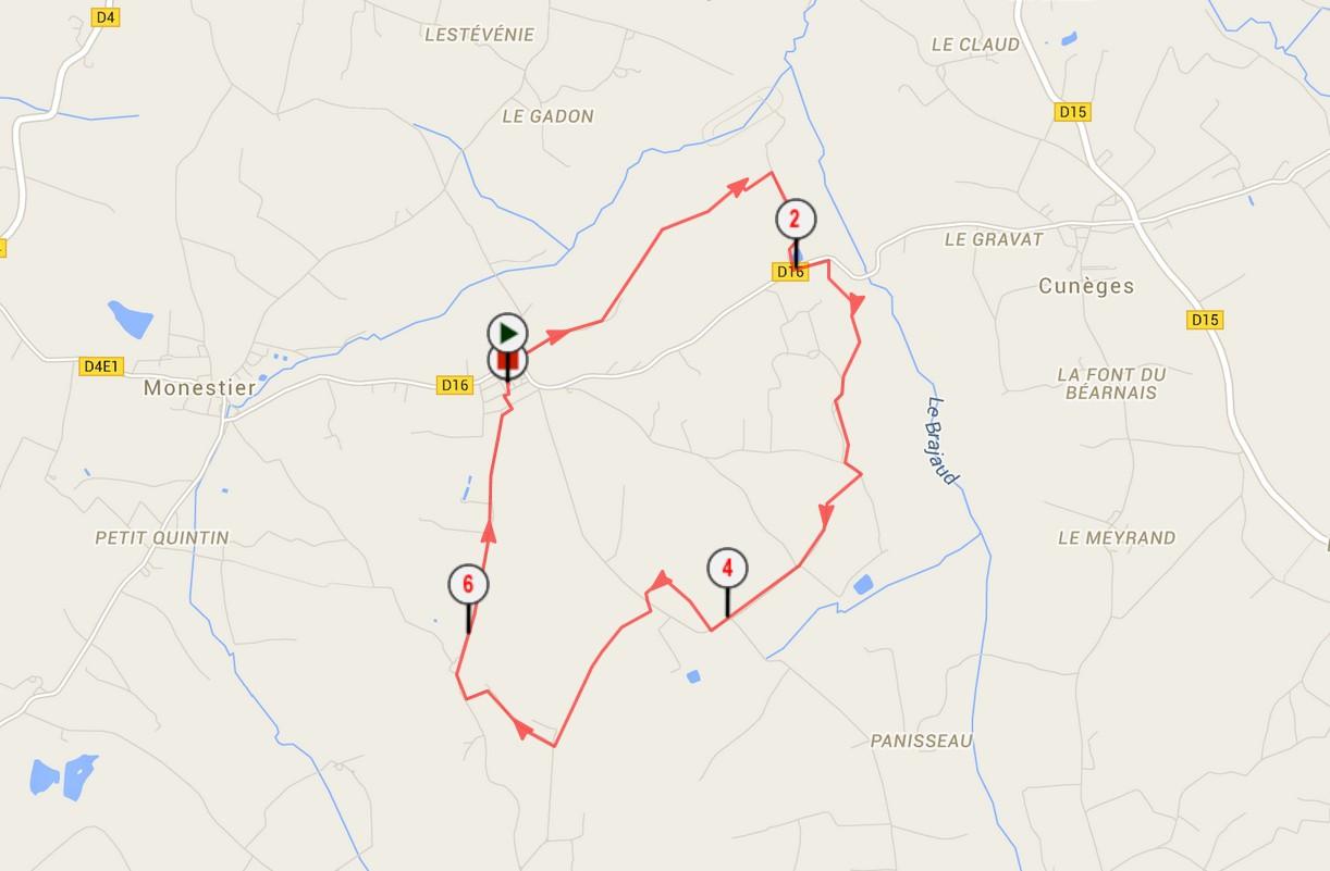 Circuit pédestre en Dordogne La boucle de la Bastide
